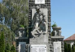 Mihályfa hősi emlékműve, 1934, műkő