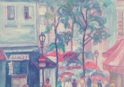 Montmartre, olaj, vászon, 35x50 cm