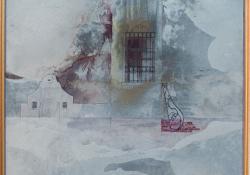 Mór, 1988, vegyes techn, farost, 55x54 cm