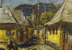 Nagybányai utca, olaj, karton, 24,5x29,5 cm