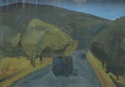 Nagylengyeli út, 1967, olaj, vászon, 60x80 cm