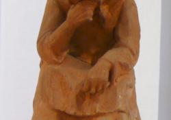 Nagymama, 1960, terrakotta, 20 cm