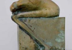 Nemgondolkodó, 1994, bronz, 19 cm