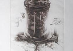 Nemszimmetria, 2002, lágyalap, mezzotinto, 30x25 cm