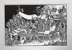 Noé, 1976, linómetszet, 335x500 mm