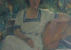 Női portré, 1950, olaj, vászon, 105x82 cm