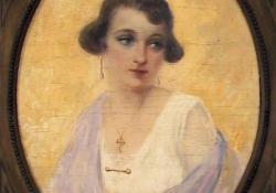 Női portré, olaj, vászon, 1920-as évek
