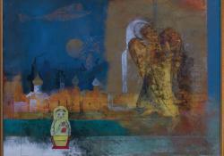 Novgorodi kontrasztok, 1980, olaj, farost, 43x50 cm