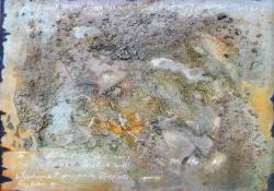 Nyílt levél önmagamhoz, 1990, farost, olaj, 50x70 cm