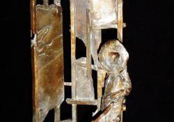 Oltárképfestő, bronz, kő