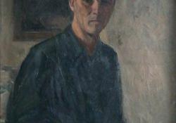 Önarckép, 1946-50, olaj, vászon, 90x71 cm