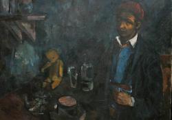 Önarckép mackóval, 1950 k, vászon, olaj, 106x120 cm