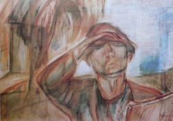 Önarckép napsütésben (A festő), 1927.
