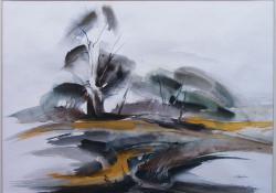 Öreg tölgy, 2000, akvarell, papír, 51x73 cm