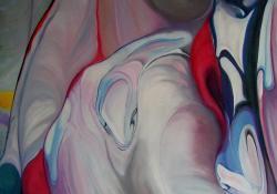 Ősi csábító, 2011, vászon, olaj,100x100 cm