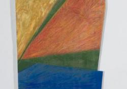 Ősz, 2002, fa, akril, olaj, 98x31 cm