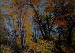 Őszi nap, 2008, vászon, olaj, 50x70 cm