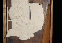 Picasso, fehér samott, fa