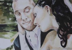 Pillanat, 2012, akvarell, karton, 50x70cm