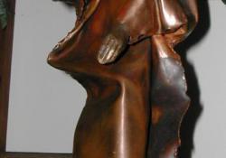 Próféta, 2007, vörösréz, bronz, kő