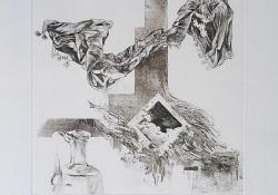 Rajzszertár, 2001, papír, lágyalap, 30x30 cm