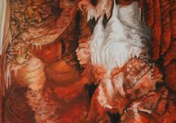 Rákóczi barlang, Indián cseppkövek, 2006, vászon, olaj, 70x50 cm