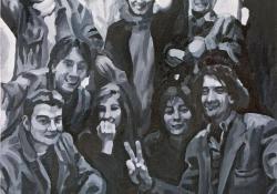 Rejtély, 2004, olaj, vászon, 130x100 cm
