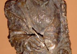 Rembrandt, bronz, kő