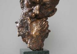 Rodin, 2004, bronz, kő, 32 cm