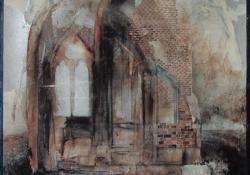 Romok, 1986, vegyes techn, farost, 40x30 cm
