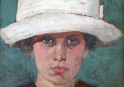 Sass Brunner Erzsébet, 1913, olaj, vászon