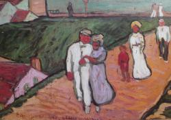 Sétálók, 1911.