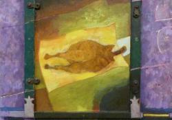 Sütő, 1996, olaj, farost, 100x70 cm