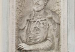 Széchenyi István, 1991, mészkő, 160x95 cm, Zalaegerszeg