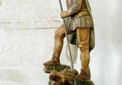 Szent György, Zalaszentgyörgy, 2005, f. hársfa, 143 cm