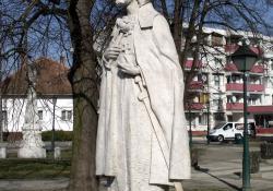 Szent István, 1996, mészkő, 185 cm, Lenti