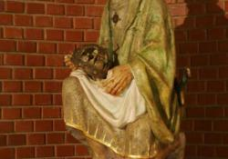 Szent István, Alsónemesapáti, 1991, f. mészkő, 120 cm