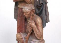 Szent Márton, 1992 k, terrakotta, 65 cm