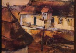 Szigliget, 1986, olaj, farost, 40x50 cm