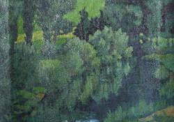 Szimfónia zöldben, 1921, olaj, vászon, 49x39,5 cm