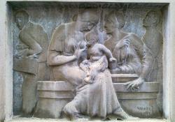 Szoptató anya, Zalaegerszeg, 1936, kőrelief
