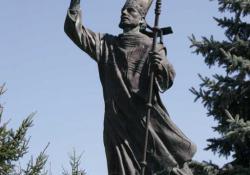 Szt. Gellért, Zalaszentgrót, 1994, bronz, kő, 210 cm
