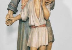 Szt. József a kis Jézussal, 1995, f. fa, 172 cm