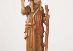 Szt. Kristóf, 1991, f. fa, 102 cm