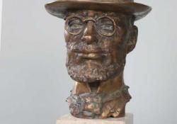 T. Lautrec, 2003, bronz, kő, 31 cm