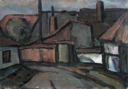 Tabán, 1960-as évek, vászon, olaj, 35x50 cm