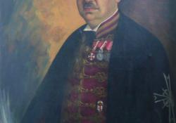 Tabódy Tibor főispán, 1937, olaj, vászon, 100x75 cm
