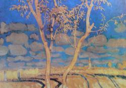 Táj fákkal, 1913.
