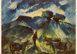 Táj tehenekkel, 1930, olaj, vászon, 58x72 cm