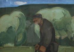 Tavasz, 1973, olaj, farost, 80x100 cm